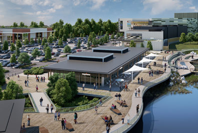 Picture of Rushden Lakes leisure, retail and shopping centre