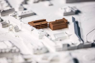 Image of 3D print of St John's Charity almshouse development in Winchester